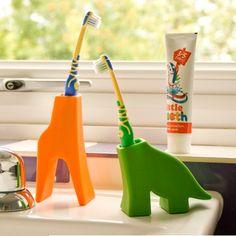 Animal toothbrush holders http://www.englandathome.com/product/24365/