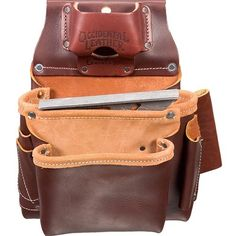 Occidental Leather 5061 2 Pouch Pro Fastener Bag for sale online Occidental Leather, Angle Square, Belt Storage, Bags For Sale Online, Fasteners, Leather Working, Hand Tools, Vest, Stuff To Buy