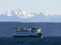 P. M. Leenhouts posted in Everything Washington - Ferry Salish from Coupville on Whidby Island to Port Townsend with the Olympic Mountains