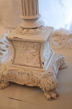 http://www.romantichome.blogspot.com - Beautiful Lamp Base
