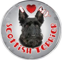 iLeesh I Love My Scottish Terrier Reflective Decal, Black -- Details can be found by clicking on the image. (This is an affiliate link) #DogMemorials