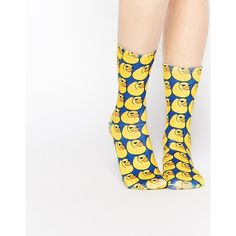 Living Royal Rubber Duck Socks ($11) ❤ liked on Polyvore featuring intimates, hosiery, socks, yellow, print socks, patterned hosiery, patterned socks and yellow socks