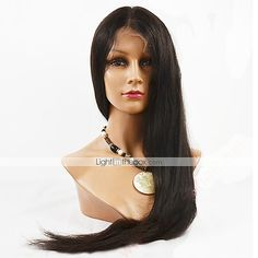 long straight lace wigs for women