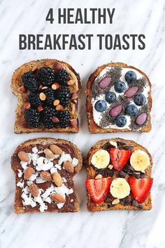 Bread is back. Time to toast it up with these four incredible breakfast toast recipes with unique toppings. The perfect on the go breakfast or snack!