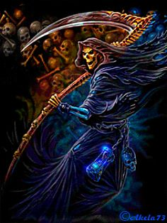 Discover & share this Dark GIF with everyone you know. GIPHY is how you search, share, discover, and create GIFs. Grim Reaper Art, Don't Fear The Reaper, Gif Animé, Animated Gif, Dark Fantasy, Fantasy Art, Vampires, Reaper Tattoo, Ghost Rider