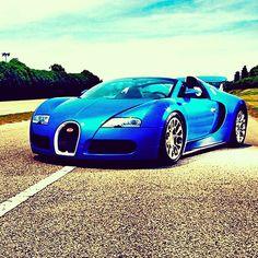 Blue Bugatti Veyron GS