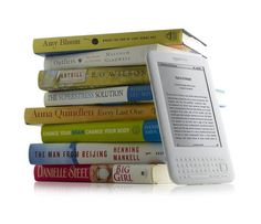 A 4GB ebook reader filled with 3,500 ebooks, weighs a billionth of a billionth a gram more than if it were empty of data - a difference that is approximately the same weight as a molecule of a DNA. The same number of physical books would weigh about two tons. http://on.fb.me/1LBa5Ld