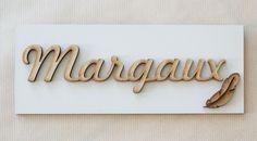 Plaque Margaux avec Petite Plume
