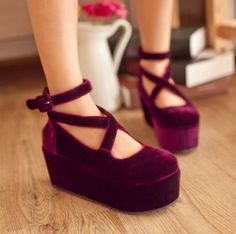 Cute sweet lolita platform shoes