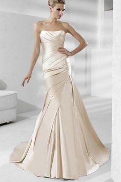 #gold wedding dress