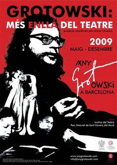 Poster para el Año Jerzy Grotowski en Barcelona
