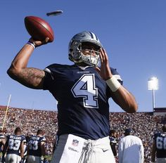We will discuss the 3 main reasons why QB Dak Prescott will thrive in 2017 for the Dallas Cowboys. Dallas Cowboys Football, Football Team, Football Helmets, Shadow Of The Almighty, Cowboys 4, How Bout Them Cowboys, Dak Prescott, Under The Shadow