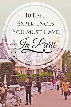 10 things to make sure you hit in Paris to make your adventure epic! 10 things to make sure you hit in Paris to make your adventure epic! Places To Travel, Travel Destinations, Places To Go, European Vacation, European Travel, Belle France, Paris Travel Tips, Paris Tips, Travel Books