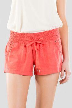 Santa Clara Solid Smocked Shorts
