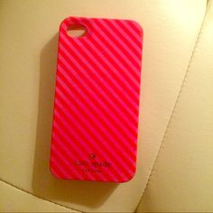 Kate Spade iPhone 4/4s case In good condition. Light wear to corners of case, barely noticeable. kate spade Accessories