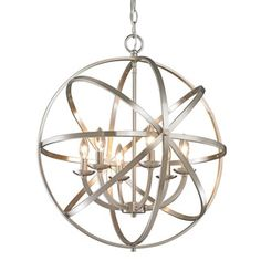 Z-Lite Aranya 6-light Brushed Nickel Chandelier - Free Shipping Today - Overstock.com - 16412567 - Mobile