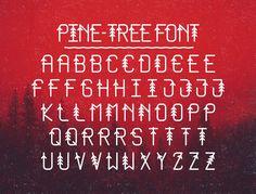 Pine-Tree Font (FREE)