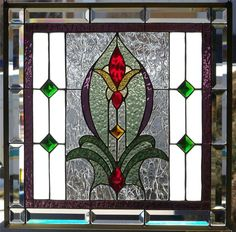 Stained Glass Window Hanging - Needing a piece for an opening between dining room and living room -- love this!