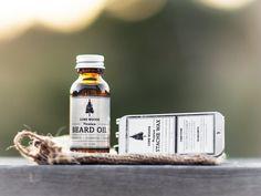 LONE WOODS Natural, Premium Beard Oil + Stache Wax Kit (Sandalwood, Cedarwood & Orange Scent) - Moustache and Beard Care