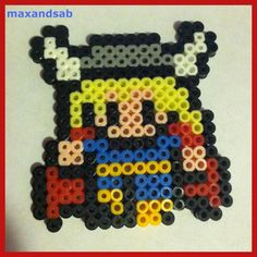Perler Bead Thor by maxandsab