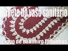 """Tampa do vaso sanitário - Jogo de banheiro Folhinhas  """"Soraia Bogossian"""" 2/4 - YouTube"""