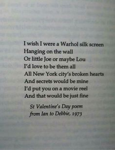 Poem by ian curtis