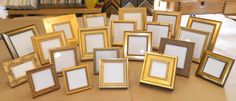 Set of 20 GOLD WEDDING Table Frames - Party Favor - Photo Frame via Etsy