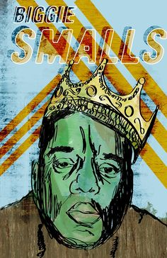 Biggie - Pop Art Poster / Wall Art / Limited Edition of 100 / Hip Hop / Notorious BIG. Biggie Poster - Hand drawn illustration combined with texture,color, and other graphic elements. Printed using archival ink and paper. Size is 13x19 in (includes a 1in border). Signed and numbered by artist Jackson, limited edition of 100. Colors are vibrant and looks amazing in print.