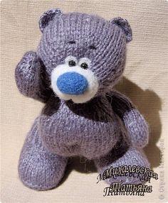 Мишка   с  голубым  носом   ))) Вязание спицами Валяние (фильцевание)