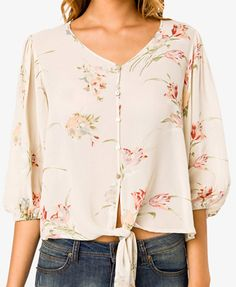 Floral knotted top $27.80
