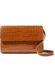 b36b3e6221 BY FAR Cross-over croc-effect leather shoulder bag Leather Shoulder Bag