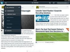LinkedIn iPad App - Filter updates