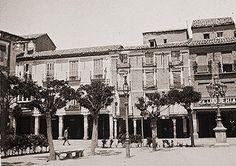 Plaza de Cervantes, en 1904
