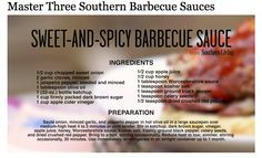 Master Three Southern Living Barbecue Sauces...