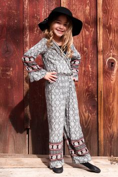 Go back to school in style with fun one-pieces perfect for a grab-and-go school morning! The Classic Boho Border Print Jumpsuit is perfect for the winter to spring transition! Wear it with a coat for the Winter or on its own during the Spring! The perfect one-piece to last her through the years! Shop now: https://trulymetoo.com/collections/spring-transition/products/classic-boho-border-print-jumpsuit