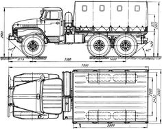 Free Truck Blueprint 375d id=779 - Free Blueprint Download