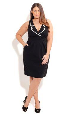 City Chic MISS MILITARY DRESS- Women's Plus Size Fashion