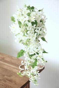 デンファレ/利休草/花どうらく/ブーケ/http://www.hanadouraku.com/bouquet/wedding/