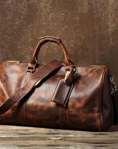 32af8d7a798a Cool Vintage Leather Mens Duffle Bag Weekender Bag Overnight Bag Travel Bag