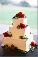 torta cuadrada de matrimonio