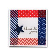 Simple Washi Tape Thank You Mini Card