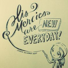 """Lettering and Drawing inspired by one of my favourite songs, """"More To See"""" by Hillsong (Darlene Zschech)"""