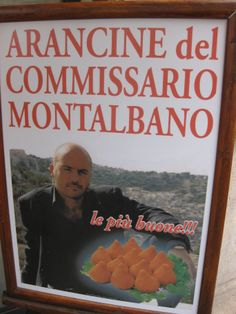 The famous fictional detective Montalbano helps advertise lots of restaurants and foods