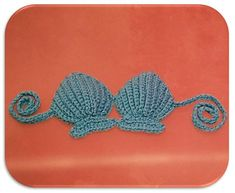 Crochet Shell Bikini Top  Photo Prop INSTANT von TCDesignsUK