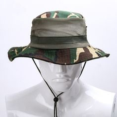 a3008cbc2934bd New Summer Outdoor wide brim Fisherman floppy Hat Jungle Camouflage Sun  Hats Men sombrero Fishing Cap sporting goods pith helmet-in Sun Hats from  Men's ...