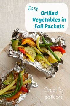Vegetables in Foil Packets Easy and affordable recipe: Healthy Grilled Vegetables in Foil Packets (great for picnics or potlucks!)Easy and affordable recipe: Healthy Grilled Vegetables in Foil Packets (great for picnics or potlucks! Healthy Grilling, Grilling Recipes, Cooking Recipes, Grilling Tips, Cooking Tips, Healthy Recipes, Vegetable Recipes, Vegetarian Recipes, Yummy Recipes