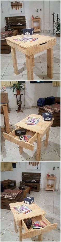 If you have been thinking about arranging the end table design in your house, then putting it together into the enrollment work of the wood pallet is the dramatic idea. You can take the prominent help out of this image where the simple yet artistic end table design has been bring about.