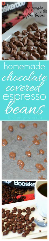 A yummy coffee recipe treat! Homemade Chocolate Covered Coffee Espresso Beans…
