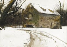 "pagewoman: ""  Grist Mill by Andrew Wyeth """
