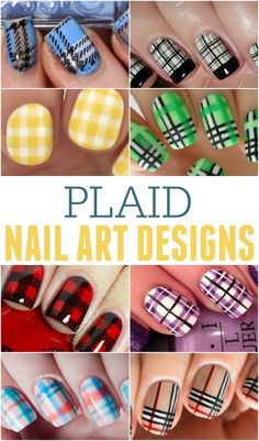 Plaid Nail Art Designs ... perfect to be on trend this fall